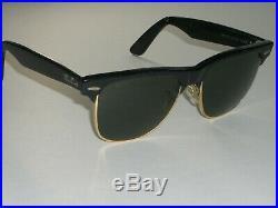Vintage Bausch & Lomb ray ban W0534 Noir/Or G15 UV Wayfarer Max Lunettes