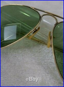 Vintage Lunettes de soleil Ray-ban B&L Aviator 1/10 12K GF G-15 Lenses 60's
