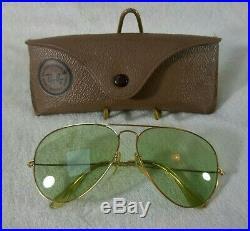 Vintage Lunettes de soleil Ray-ban B&L Aviator 6214 RB-3 Lenses 70's Bon état