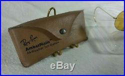Vintage Lunettes de soleil Ray-ban B&L Aviator Ambermatic 6214 1970's SUP