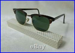 Vintage Lunettes de soleil Ray-ban B&L Clubmaster Dark tortoise W1116 G-15 90's