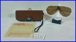 Vintage Lunettes de soleil Ray-ban B&L Wings L1376 Gold Brown Lenses 80's