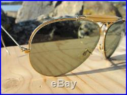 Vintage Ray Ban B&L Bullet Hole Green Changeables circa1960's Aviator Sunglasses