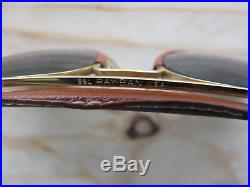 Vintage Ray Ban B&L Outdoorsman Leathers G15 Aviator Sunglasses