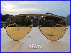 2ebf0aa144c Vintage Ray Ban B L U. S. A. All Weather Ambermatic ODM 80 s Aviator  Sunglasses