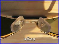 Vintage Ray Ban B&L U. S. A. Diamond Hard N. O. S. 24K GP Ulta Deep Groove Aviators