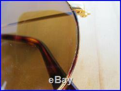 Vintage Ray Ban B&L U. S. A. John Lennon Round Metal Tortuga B15 Lenses Sunglasses