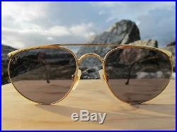 Vintage Ray Ban B&L U. S. A. Precious Metals Ultra Zenus 24 K GP Chromax Aviators