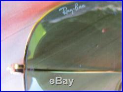 Vintage Ray Ban B&L U. S. A. RB3 True Green Lenses Outdoorsman Aviator Sunglasses