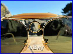 Vintage Ray Ban B&L U. S. A. Sharp Shooter G15 Lenses 80s Aviator Sunglasses