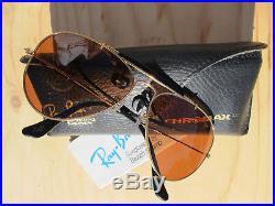 187afbd4780 Vintage Ray Ban B L U. S. A. W1663 B-20 Chromax Driving Series Aviator  Sunglasses