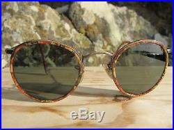 51be6048b6f Vintage Ray Ban B L U. S. A. W1676 Round Marble Inserts John Lennon  Sunglasses