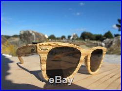 Vintage Ray Ban B&L Wayfarer Woodies Light Tiki Changeables Sunglasses