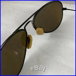 Vintage Ray Ban USA Bausch & Lomb Lunettes de Soleil Aviateur Impact Résistant
