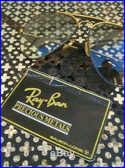 Vintage SUNGLASSES RAYBAN OUTDOORSMAN PRECIOUS METAL BLACK W0555 1980's