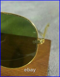 °Vintage Sunglasses Ray-ban B&L Aviator Arista Frame Lenses RB-3 80's