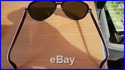 Vintage dès années 70 RAY BAN OLYMPIQUE STYLE VAGABOND LENTILLES VERTS