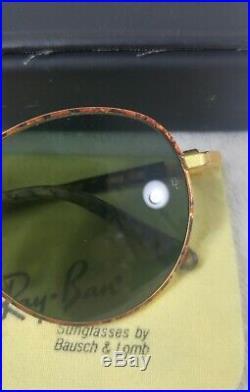 Vintage paire de lunettes de soleil RAYBAN Round métal Tortoise Style GATSBY 80s