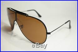 Vintage ray ban B&L Etats-Unis ailes L 70 20 noir ovale Lunettes de soleil NOS
