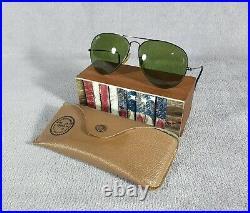°Vintage sunglasses Ray-Ban B&L Aviator Black chrome L2824 RB-3 lenses 80's