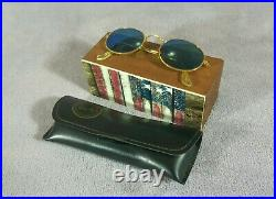 °Vintage sunglasses Ray-Ban B&L Oval métal W1862 Arista Blue mirror lenses 90's